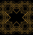 tile pattern with golden ornament on black vector image