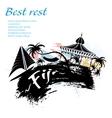 Travel Fiji grunge style vector image vector image