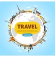 travel world monument concept road trip vector image vector image