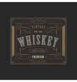 western design template for whiskey label vector image vector image