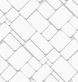 White seamless geometric pattern vector image