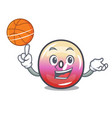 with basketball jelly ring candy character cartoon vector image