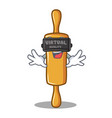 with virtual reality rolling pin character cartoon vector image vector image