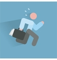 Running businessman ico vector image