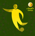Brazil summer soccer sport card with an yellow abs vector image