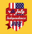 4th July American Independence Day Design vector image