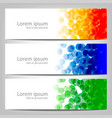 abstract colorful background brochure template vector image