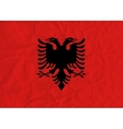 Albania paper flag vector image
