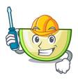 automotive cartoon sliced fresh melon green sweet vector image vector image