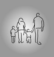 back four people family holding hand vector image vector image