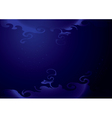 background - dark blue with curly elements vector image vector image