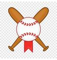 baseball with bats icon cartoon style vector image vector image