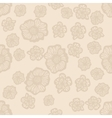 Beige and light brown seamless flower pattern