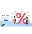 best deals shopping sales discount percentage vector image vector image