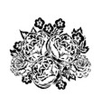 bouquet of flowers monochrome vector image vector image