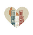 burning notre dame de paris cathedral in the vector image vector image