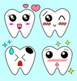 cartoon tooth braces vector image vector image