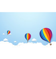 colorful hot air balloons flying on blue sky vector image