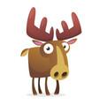 cool cartoon moose character vector image vector image