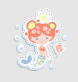 cute little mairmaid - cartoon vector image vector image
