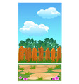 cute poster with wooden fence for a country house vector image