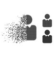disappearing pixelated halftone client icon vector image vector image
