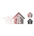 dissipated pixel halftone bamboo house icon vector image vector image