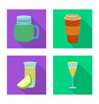 drink and bar logo set of vector image