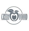 eco food logo vintage style vector image
