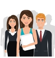 elegant businesspeople isolated icon design vector image vector image