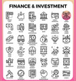 finance investment concept line icon vector image