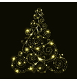 floral glowing christmas tree vector image
