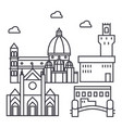 florence italy line icon sign vector image