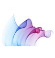 flowing particles wave transparent tulle textile vector image vector image