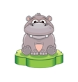 Funny Cartoon Hippo vector image