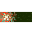 Green Christmas banner with red ornaments vector image vector image