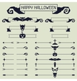 halloween collection design elements vector image vector image