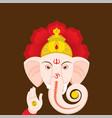 happy ganesha chaturthi greeting design vector image vector image