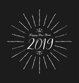 happy new year 2019 lettering design vector image