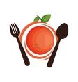 healthy food menu isolated icon vector image vector image