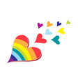 hearts in rainbow colors vector image vector image