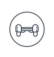 hoverboard icon linear pictogram on white vector image vector image