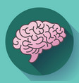 human brain icon symbol of intellect study vector image