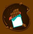 icon of black or milk chocolate vector image vector image