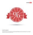 labels percent price icon - red ribbon banner vector image
