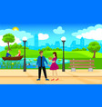 light city park landscape romantic template vector image vector image