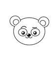 line cute wild animal face with expression vector image vector image