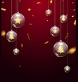 luxury christmas glass balls 2020 new year vector image