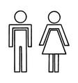 man and woman silhouettes vector image