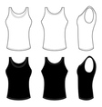 Mans Top Tank in Black and White